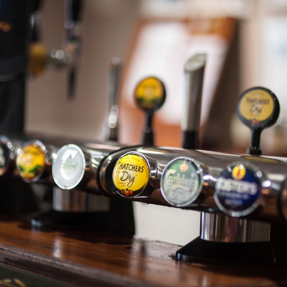 We offer a wide selection of drinks
